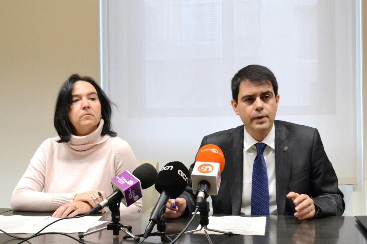 Montserrat Duch i Marc Castells, en la presentació dels comptes
