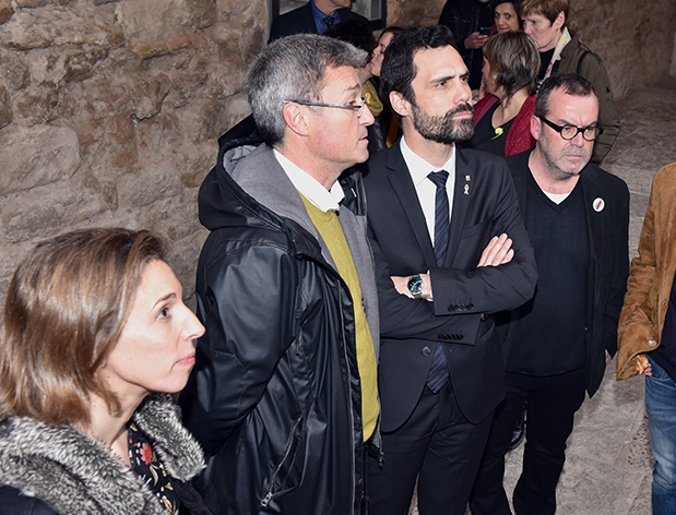 Jaume Ars amb el President Torrent en un acte a l'Escola Pia