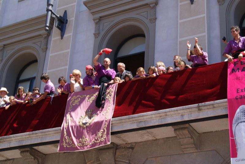 Celebració al balcó de l'Ajuntament