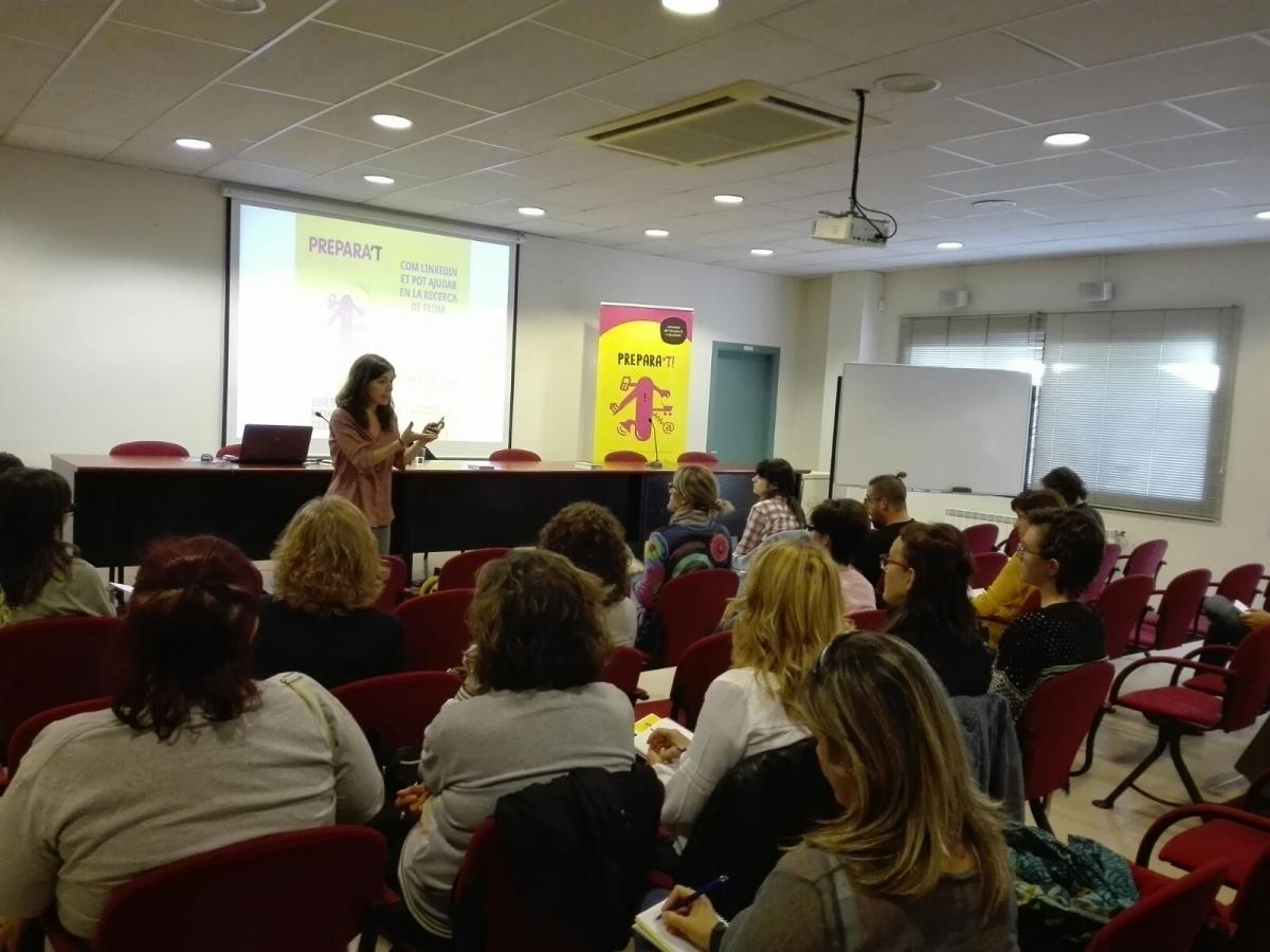 Una sessió dels tallers formatius Igualada Prepara't