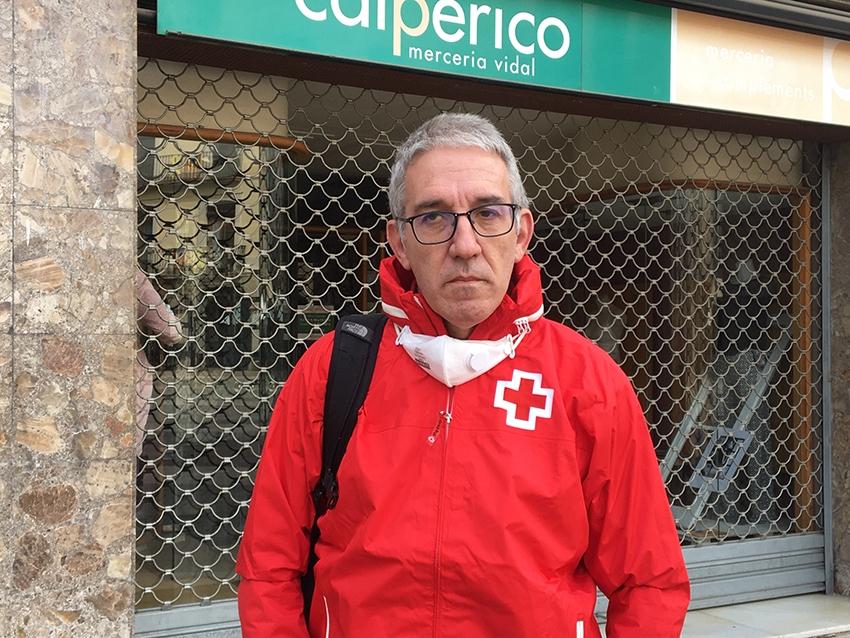 L'Enric Morist, a la plaça de l'Ajuntament d'Igualada