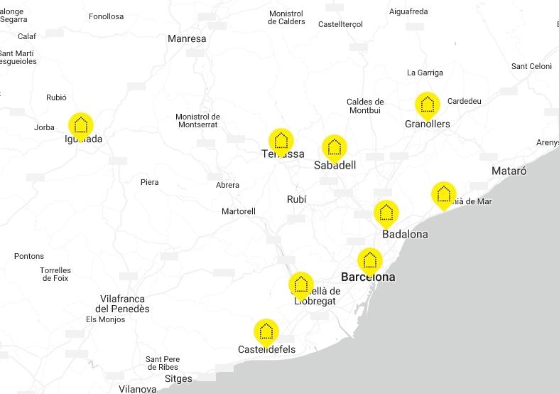 Aquests són els altres 8 punts del territori català on es va desenvolupar la campanya.