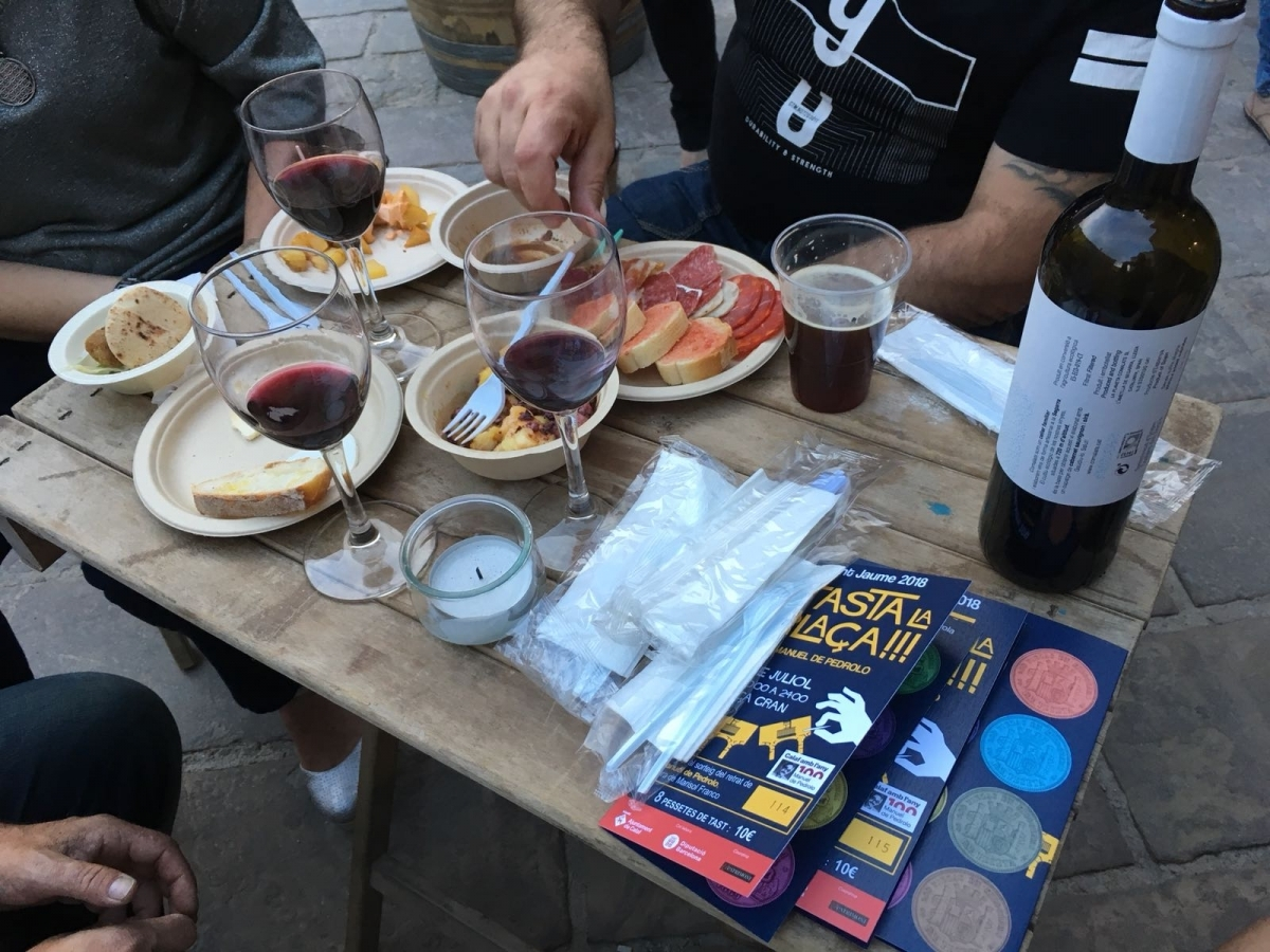 Algunes de les propostes gastronòmiques del 'Tasta la Plaça!!!'