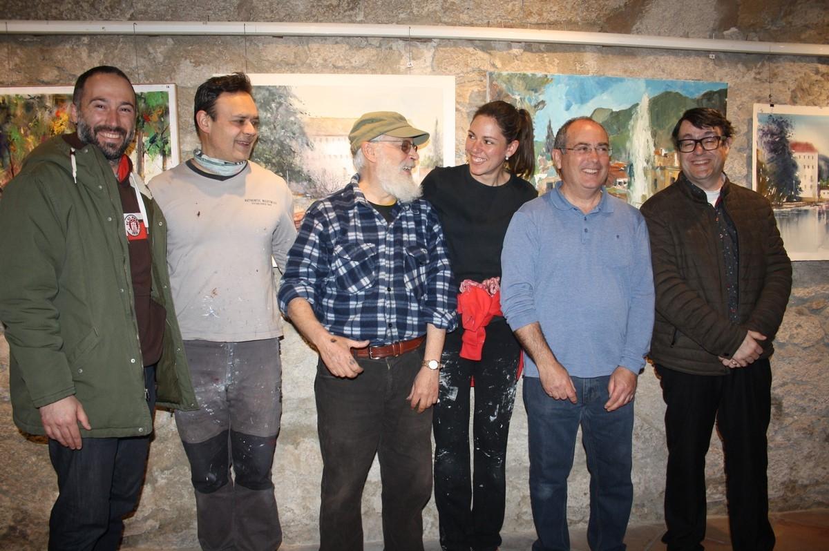 El batlle Aleix Auber, esquerra, amb els guanyadors