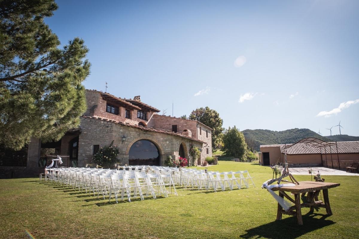 Can Alsina, un dels espais dedicats a casaments a l'Anoia