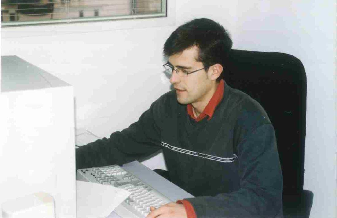 Miquel Ridao treballant a FITEX l'any 2003