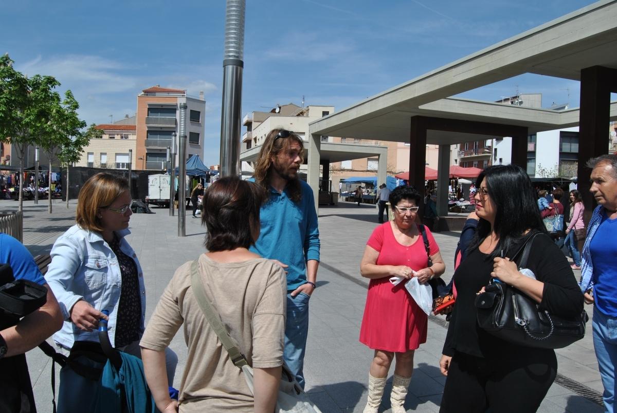 Navarro, en la primera presa de contacte amb la població