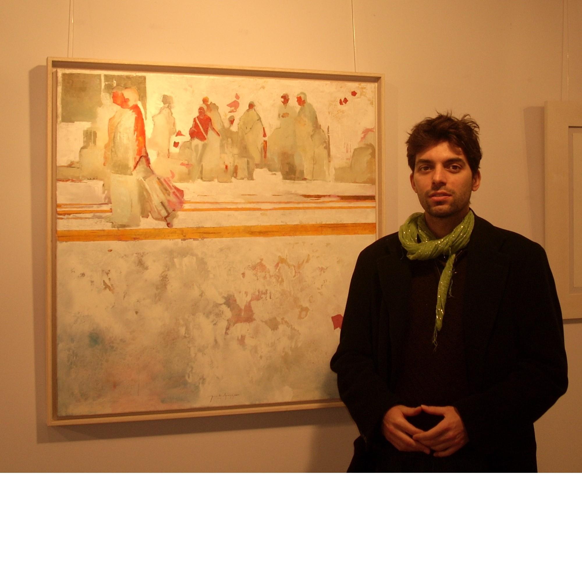Xavier Gabriel, amb un dels seus quadres
