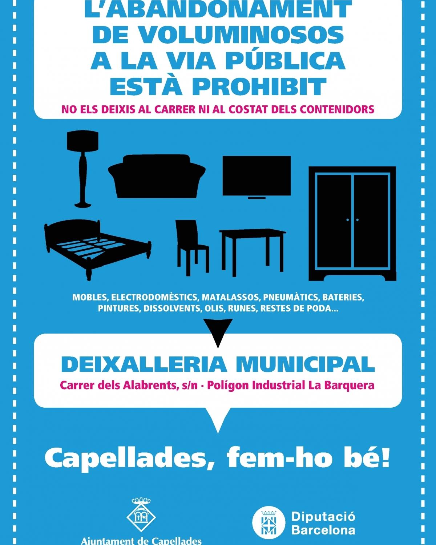 El cartell de la campanya que engega el consistori capelladí