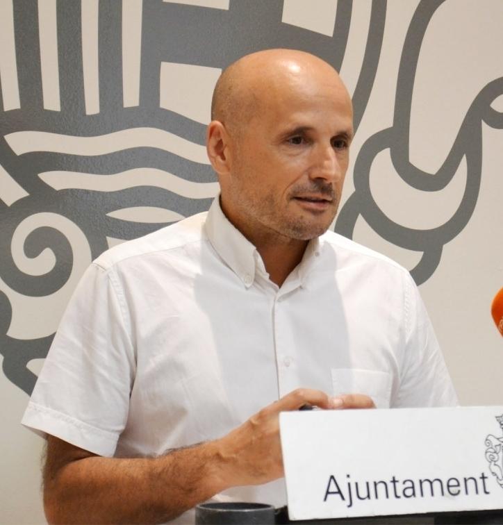 Jordi Pont, segon tinent d'alcalde, en una compareixença