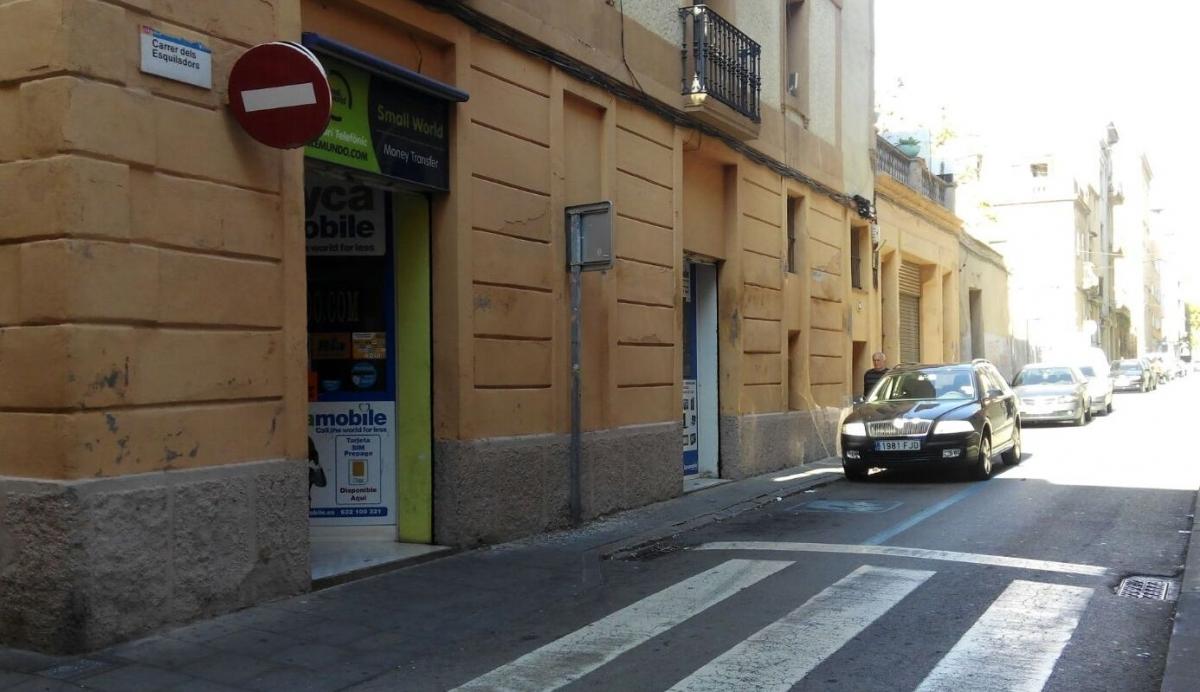 El tram final del carrer Esquiladors, on es faran les obres