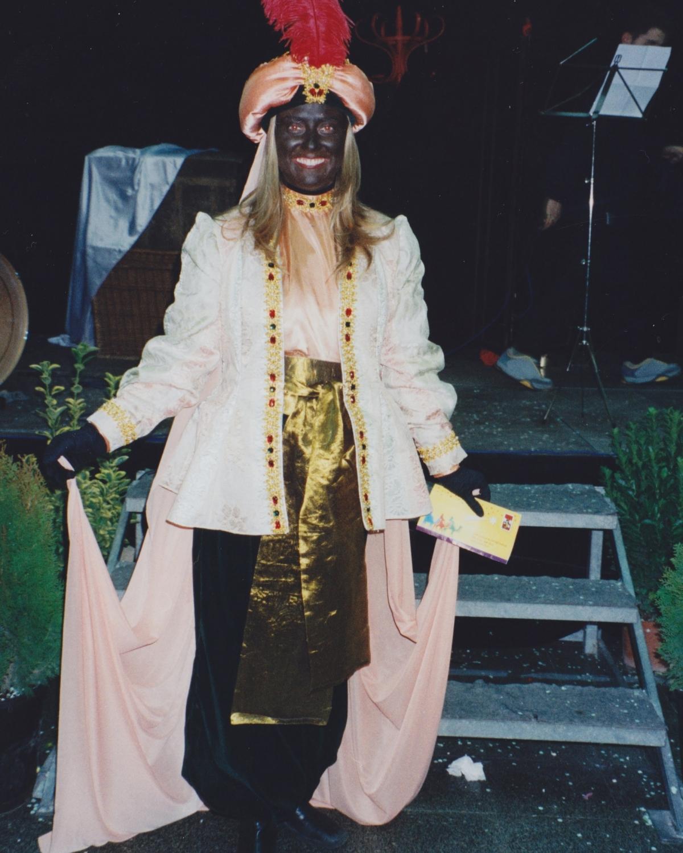 La patgessa Nasira al Saló de la Infància d'Igualada, el desembre del 2001