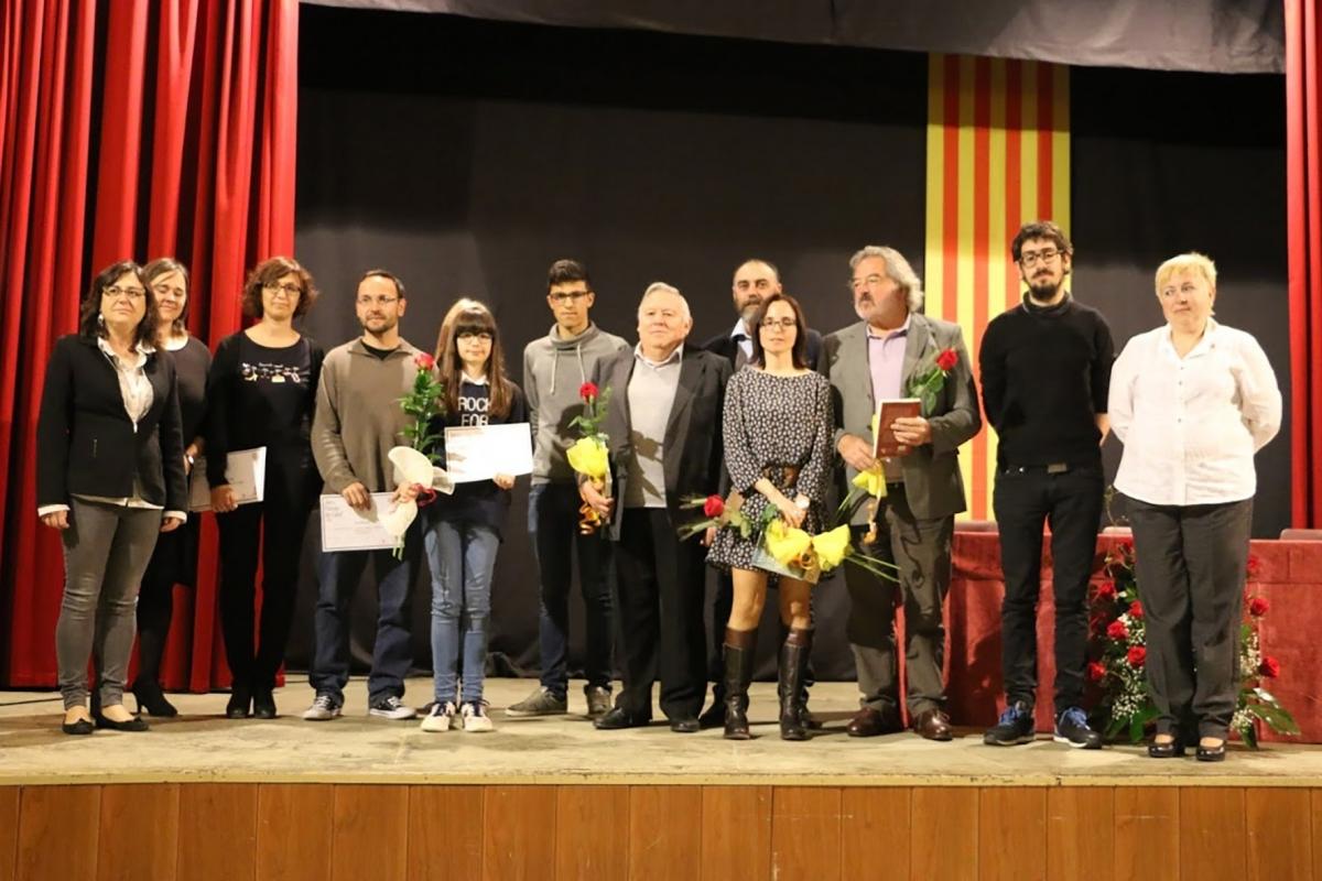 Fotografia dels premis literaris de l'any passat a Calaf