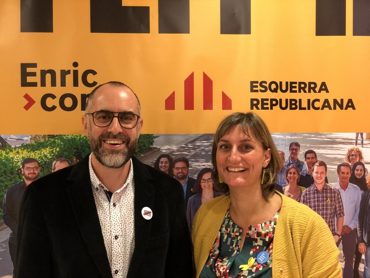 Ruiz, amb la consellera Alba Vergés