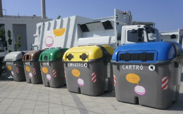 Els contenidors que s'utilitzen actualment a Igualada