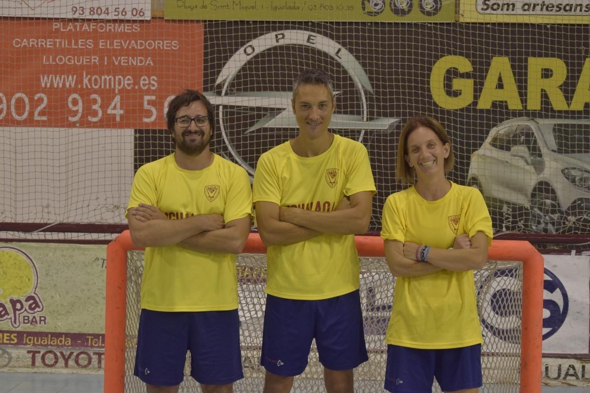 D'esquerra a dreta, Carles Piernas, Ferran López i Mònica Sala