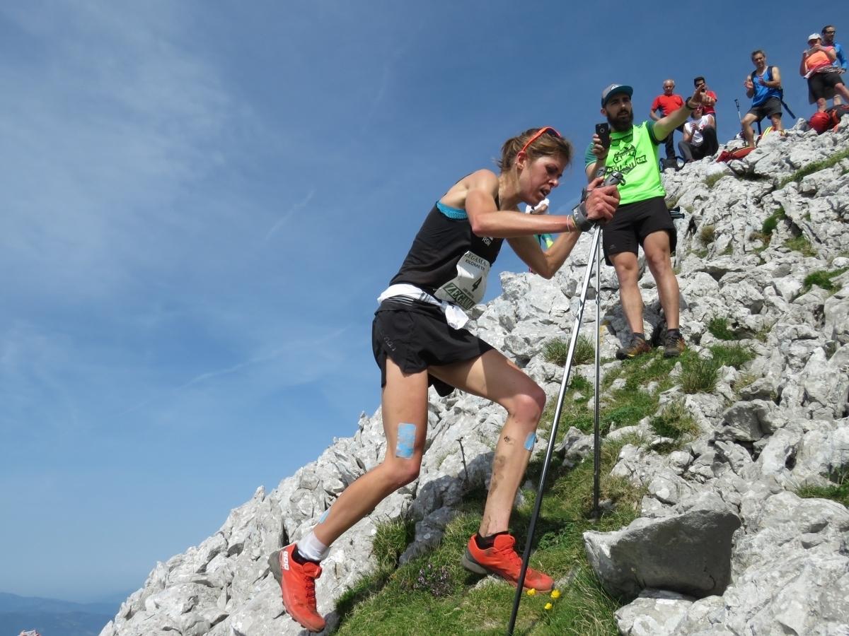Laura Orgué, en una cursa l'any passat