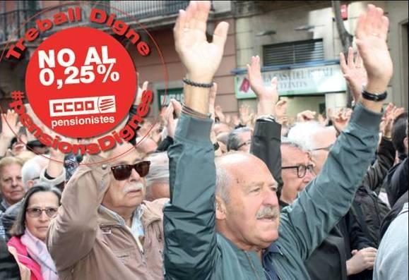Les protestes per les pensions s'han estés a tot l'Estat