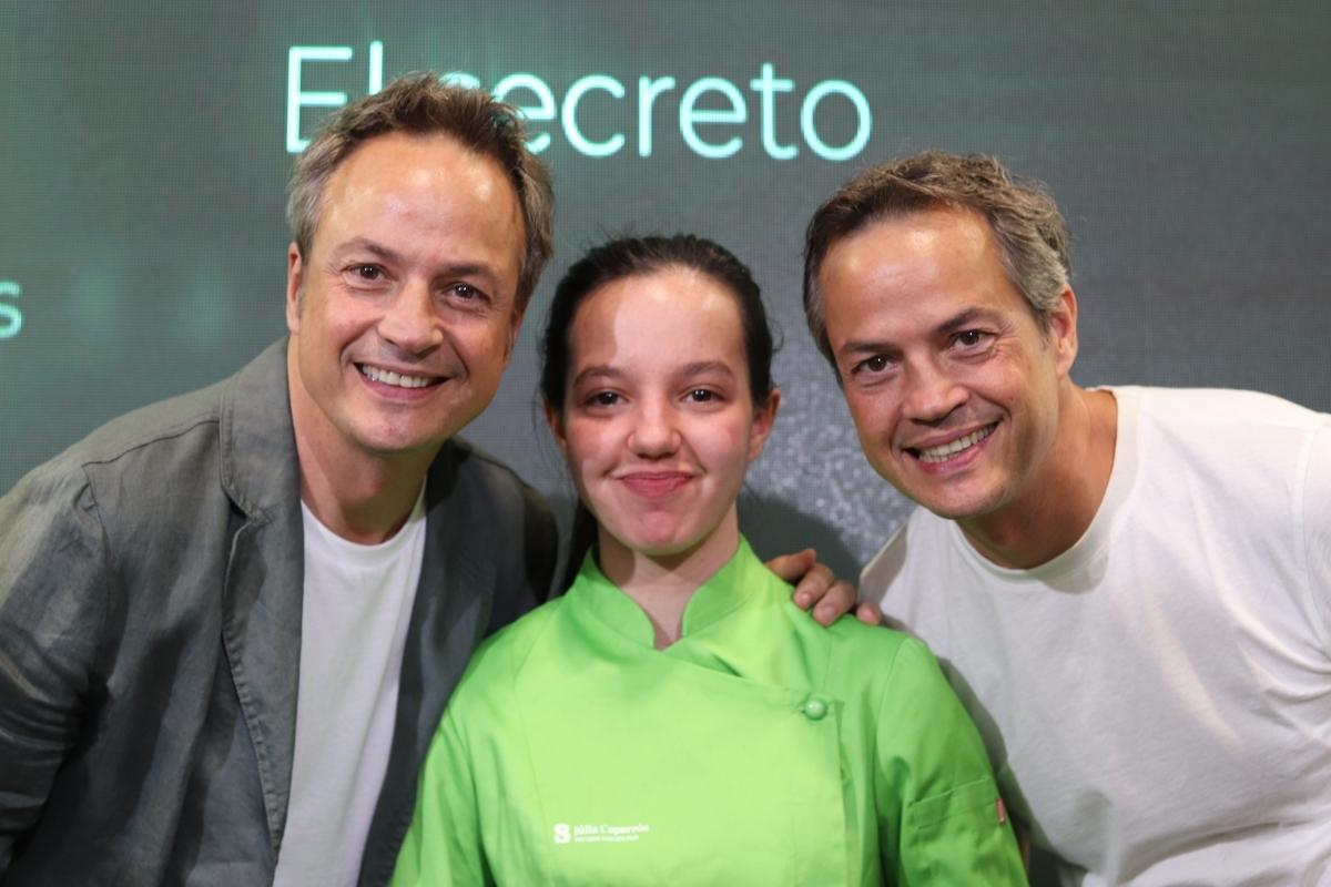 La Júlia, amb els germans Torres