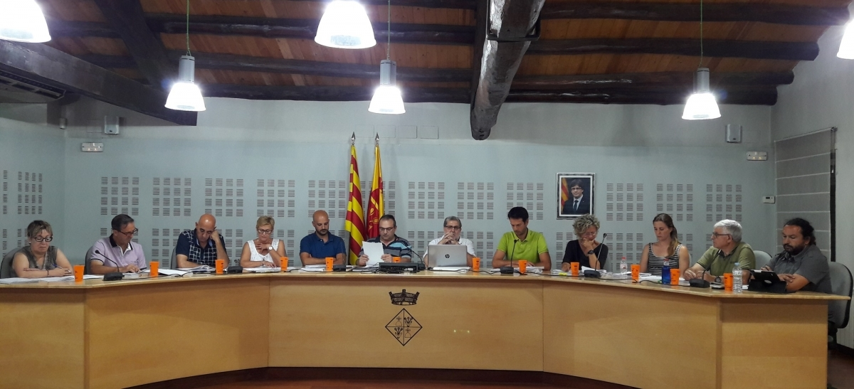 El ple poblatà celebrat la darrera setmana de juliol, centrat en els pressupostos