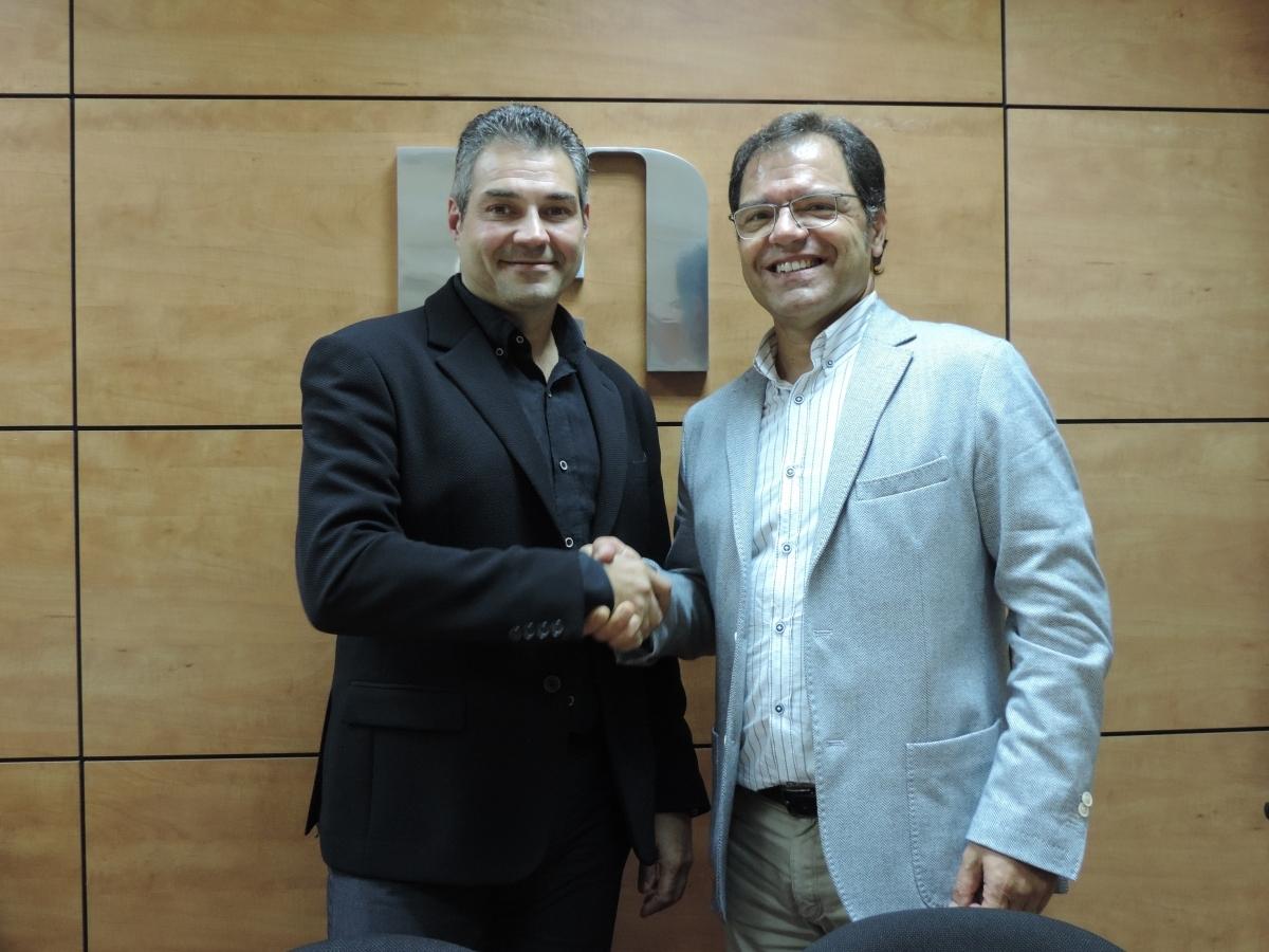 Joan Domènech, esquerra, amb Blai Paco