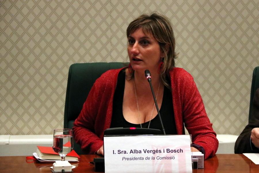 Alba Vergés, en la seva etapa a Junts pel Sí