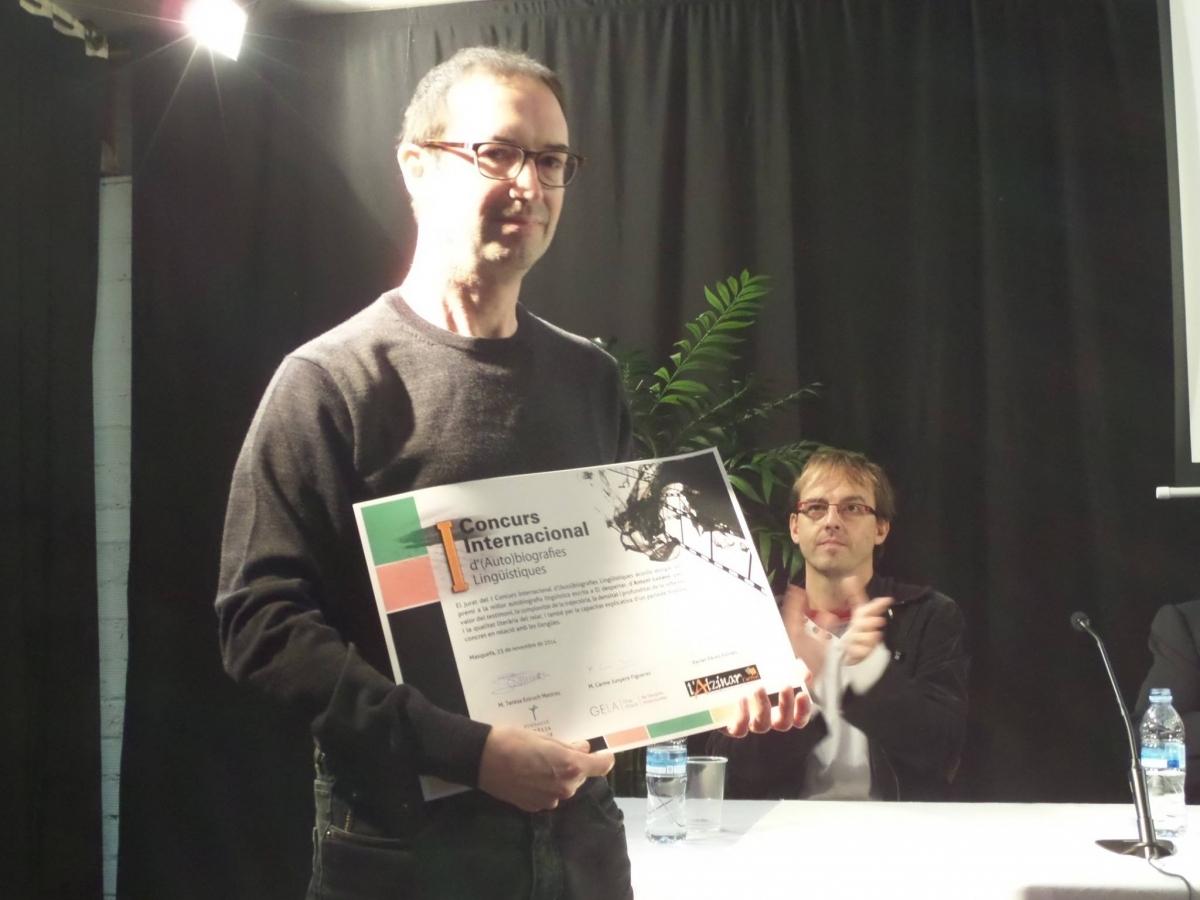 El lliurament de premis de la primera edició, fa un any