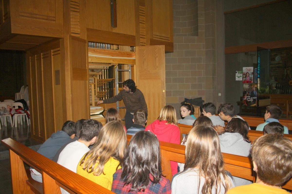 Un dels tallers de descoberta de l'orgue
