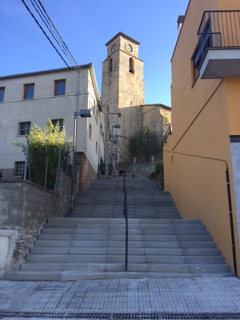 Les escales del carrer de la Muralla