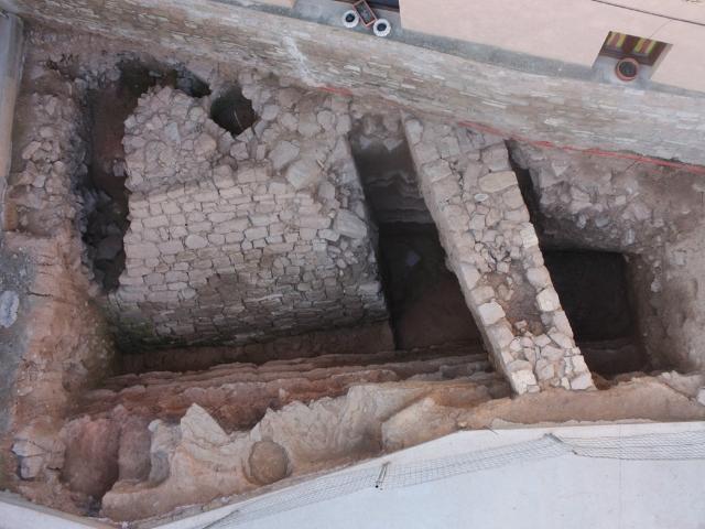 Vista de la cala arqueològica en l'actualitat
