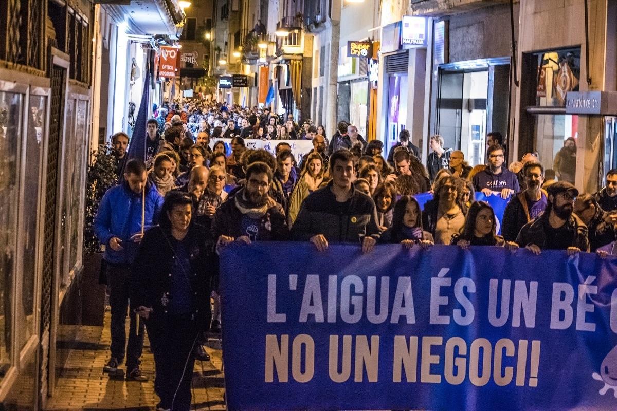 La manifestació a Igualada, el passat dissabte 27