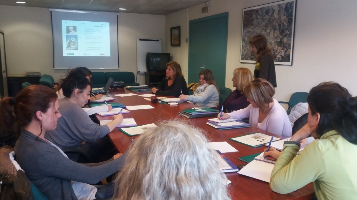 Una sessió formativa del programa Atenea