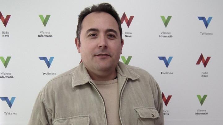 El regidor vilanoví d'Urbanisme, a Ràdio Nova