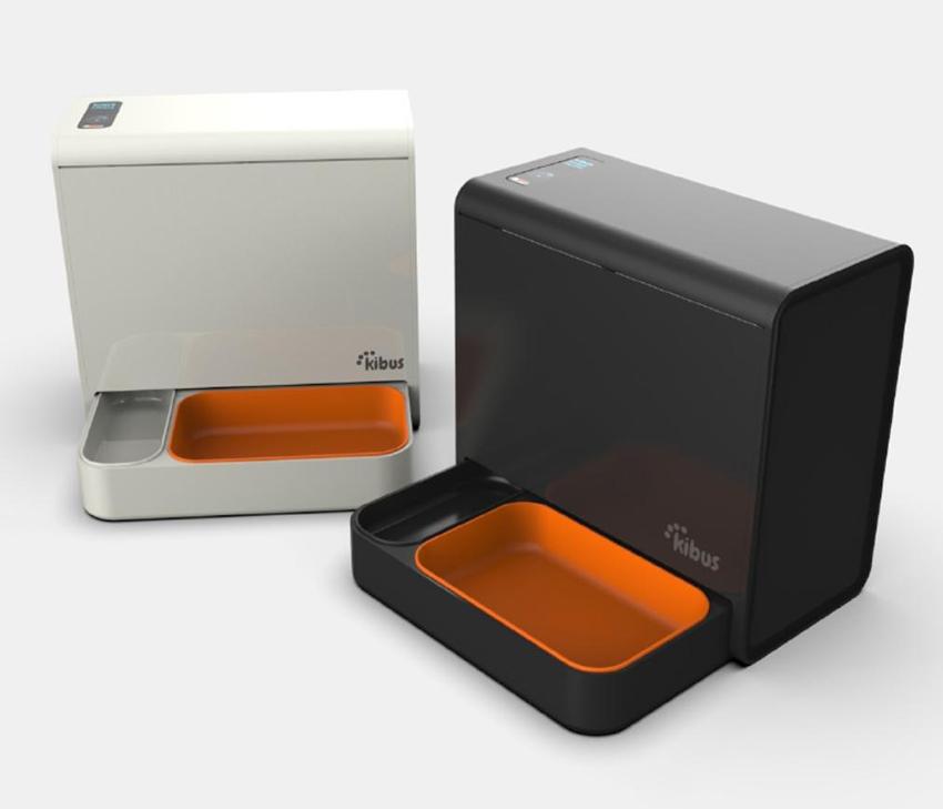 Prototip del dispoensador dissenyat per la empresa igualadina Kibus Petcare
