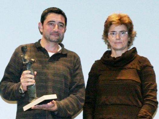 Joan Cardona Romanos quan va rebre el premi
