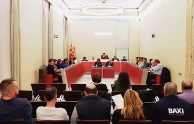 La sessió ordinària del ple el mes de gener, on es va tractar i aprovar la moció cupaire