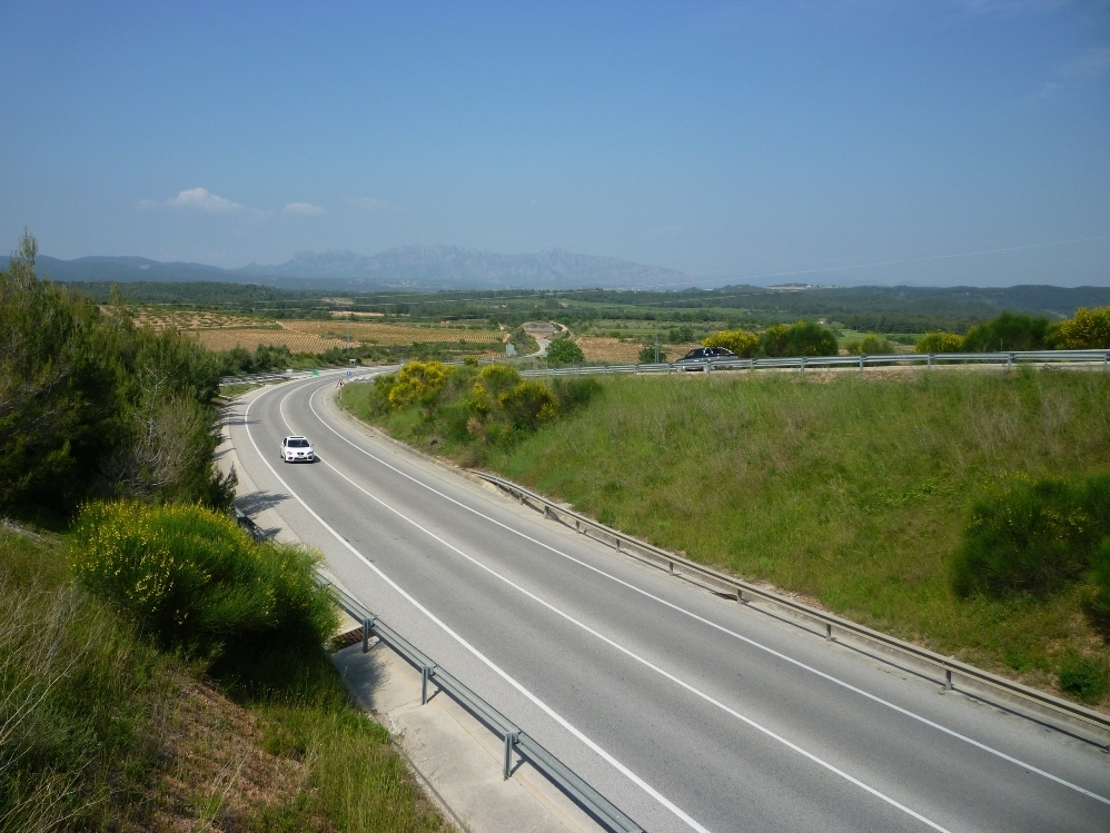 L'Eix Diagonal, en la zona entre el Penedès i l'Anoia