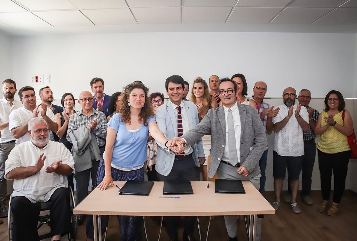 En el transcurs de l'acte es va signar una declaració entre la Diputació de Barcelona, APINAS i el Consorci de Promoció Turística de l'Alta Anoia
