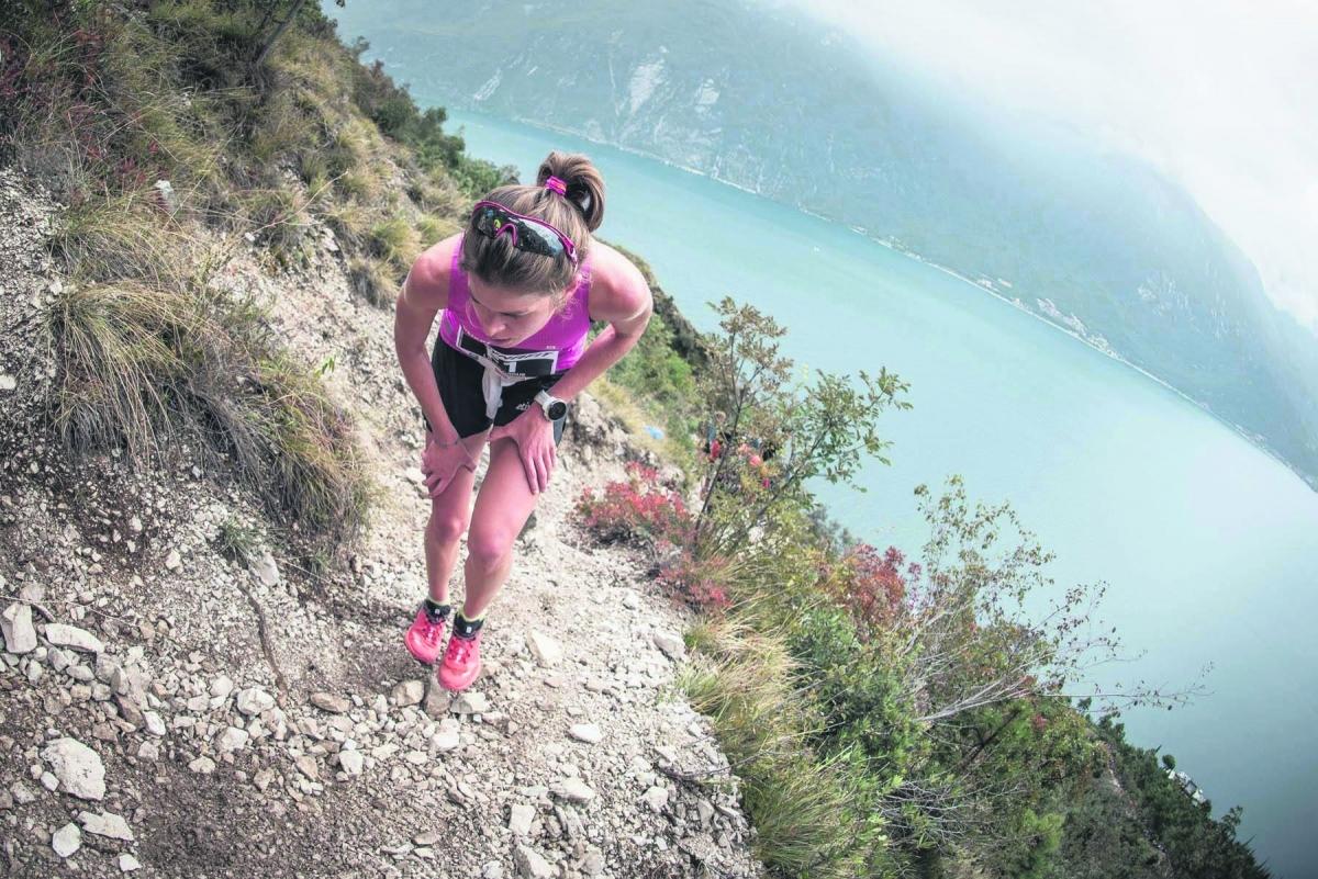 L'esportista igualadina Laura Orgué en una prova de l'exigent quilòmetre vertical. L.O.