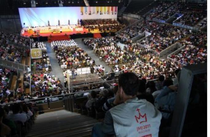 Imatge dels preparatius per la trobada a Madrid