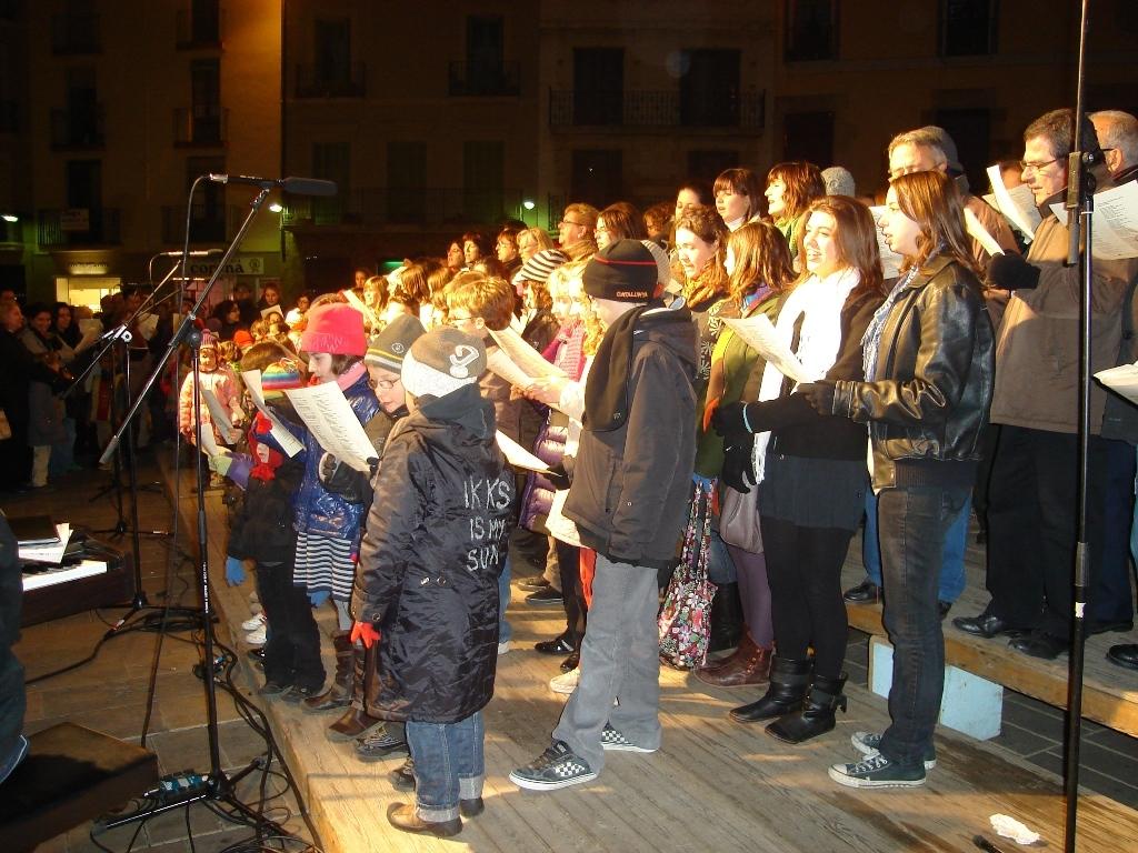 Cantada de Nadales a la Plaça de l'ajuntament