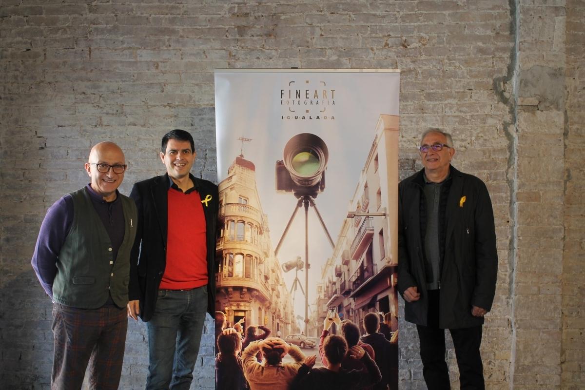 Pere Camps, Marc Castells i Ramon Muntané, en la presentació d'aquesta edició del FineArt