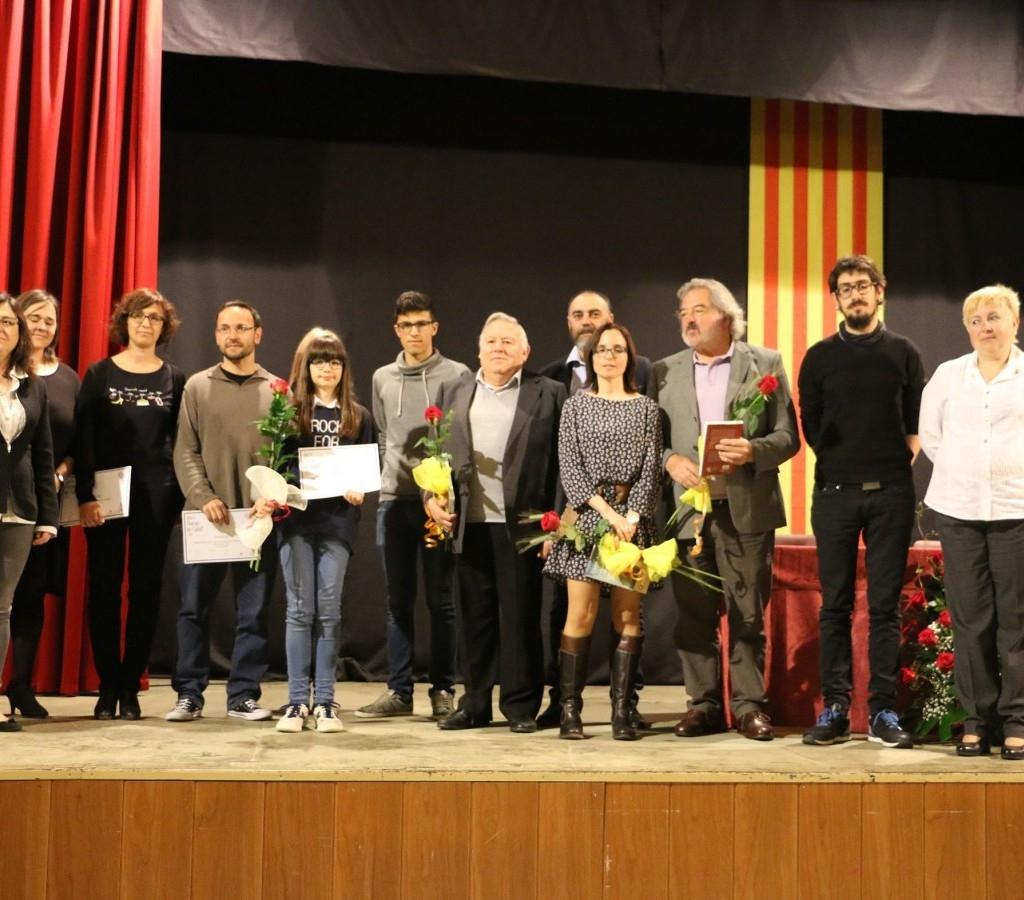 Fotografia de família dels premiats en l'edició anterior