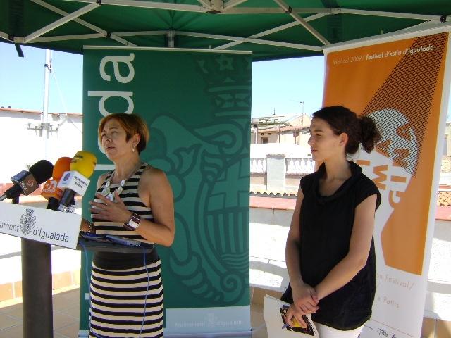 Presentació del Festival Imagina, amb Àngels Gabarró i Sílvia Torreblanca
