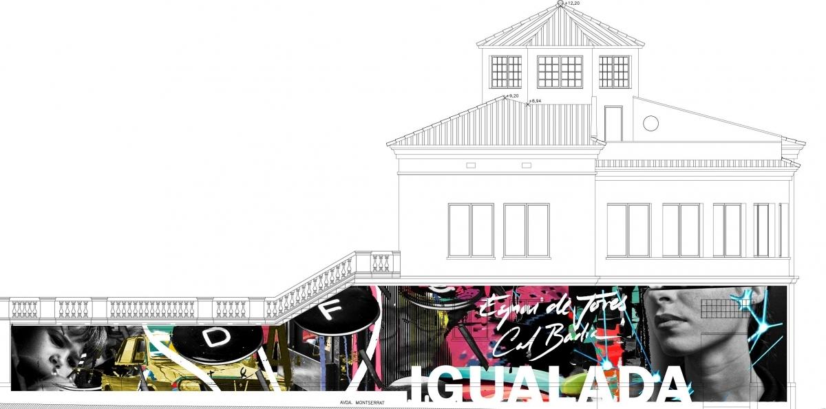 La idea dels graffiters, una enèrgica benvinguda a Igualada