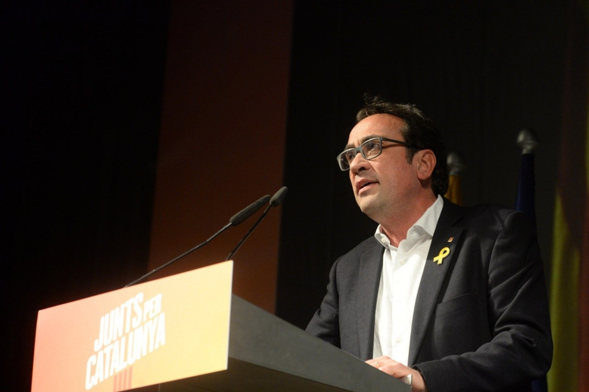Josep Rull en un moment de la seva intervenció