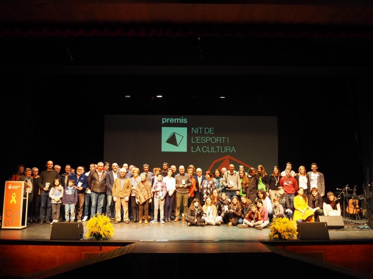 Els premiats de la família de l'esport i la cultura calafina