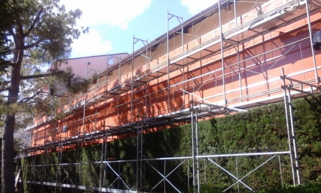 L'aspecte actual de la façana, amb les obres de millora