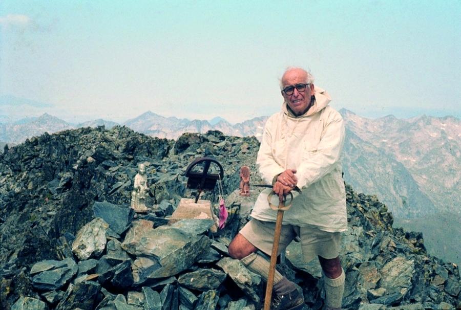Pere Gabarró, en una de les seves altres facetes, l'excursionisme