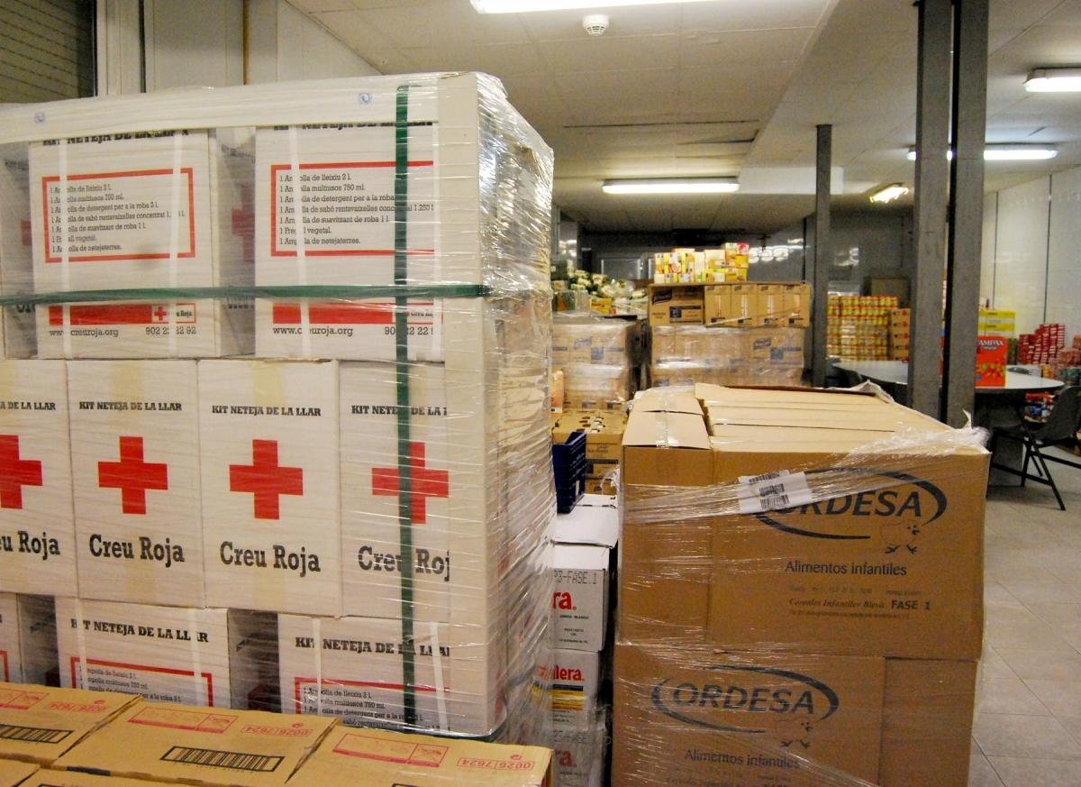 El Banc de Queviures, que gestiona la municipalitat junt a la Creu Roja